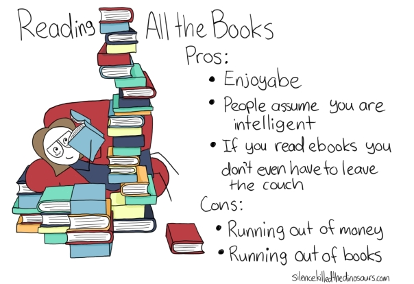 reading all the books