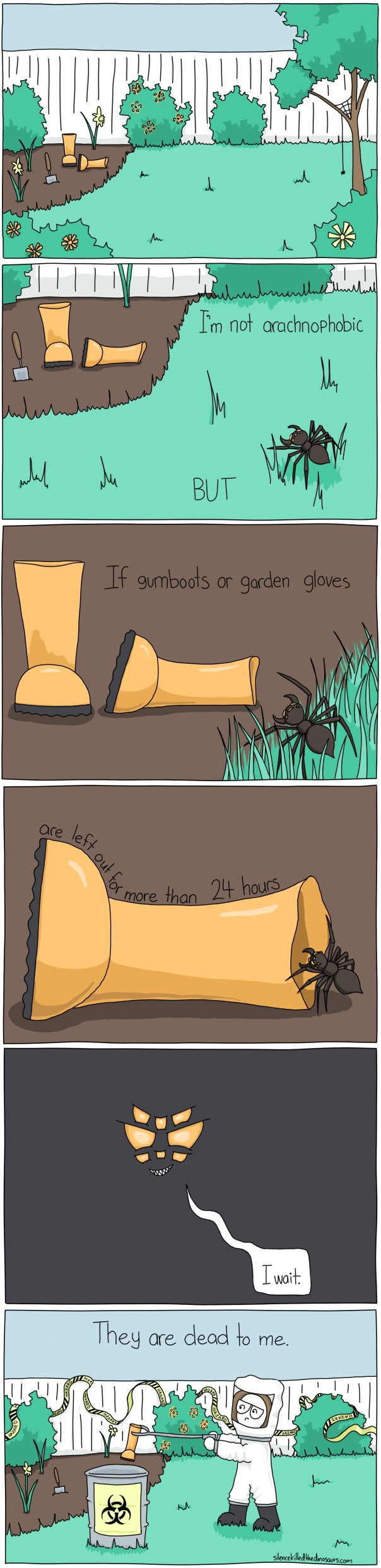 I'm not arachnophobic but
